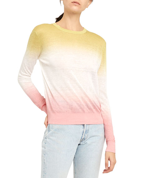Theory Dual Ombre Crewneck Pullover