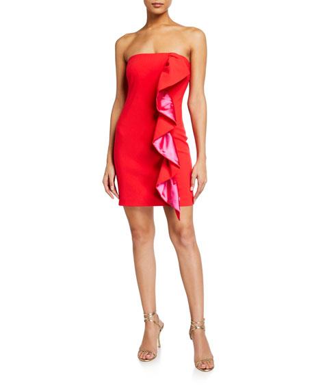 Likely Farrah Strapless Ruffle Dress