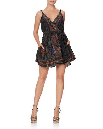 Mini Wrap Dress w/ Twist Straps