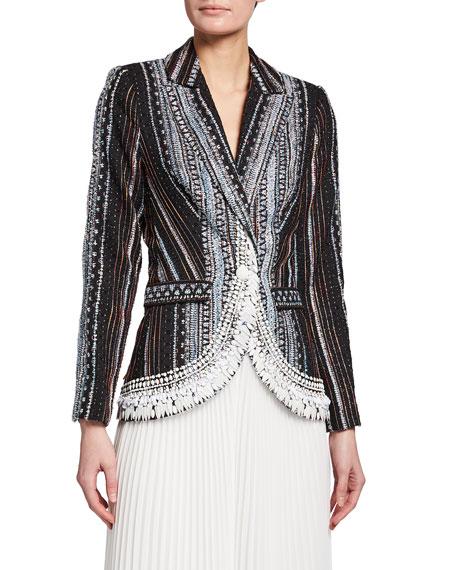 Badgley Mischka Collection Embellished Fil Coup Jacket