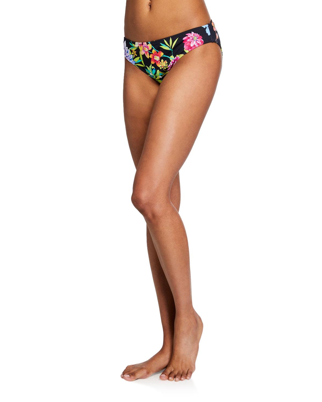 Dreamer Floral Hipster Bikini Swim Bottom