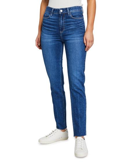 PAIGE Skyline Cropped Skinny Jeans w/ Raw Hem