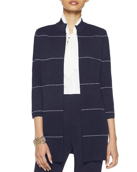 Misook Dash Detail Ottoman Knit Jacket