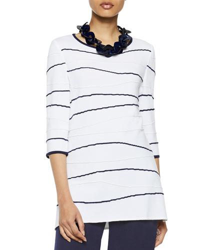 Wavy Lines Knit Tunic