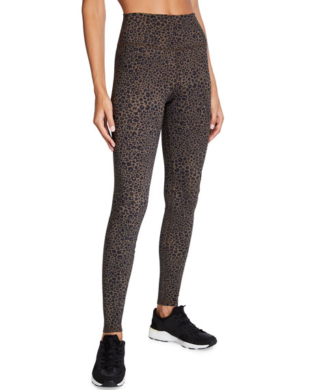 Alo Yoga Vapor High-Waist Leopard-Print Leggings