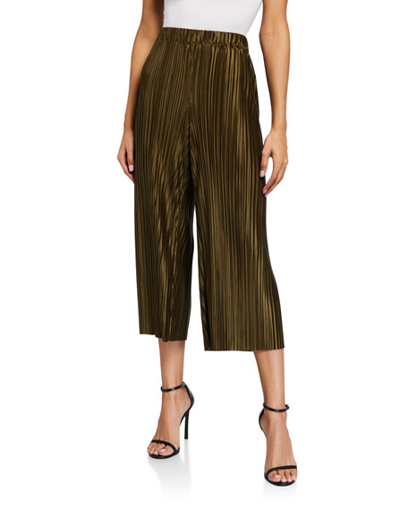 Alice + Olivia Elba Cropped Wide-Leg Pants