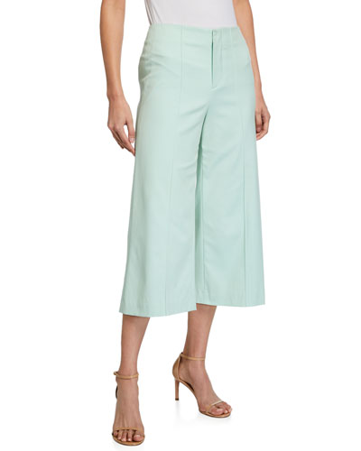 Dylan Clean High-Waist Wide-Leg Crop Pants