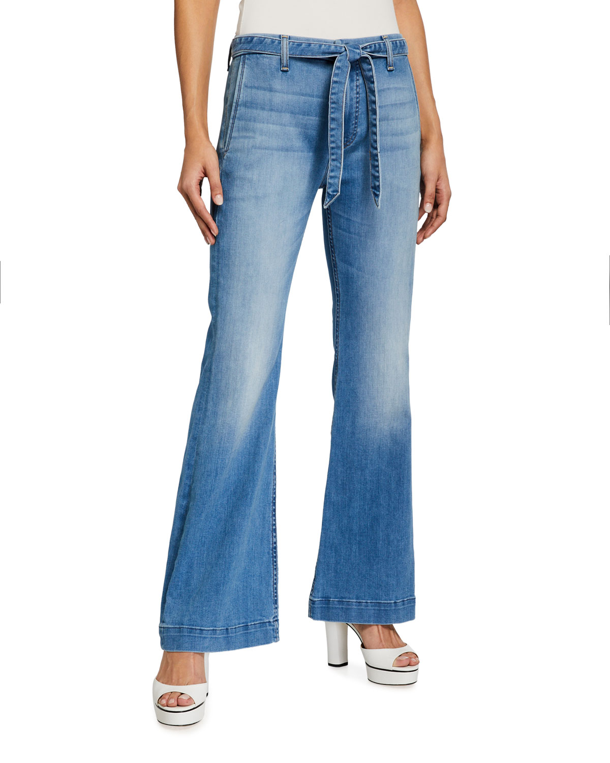 Tailorless Flared Denim Trousers