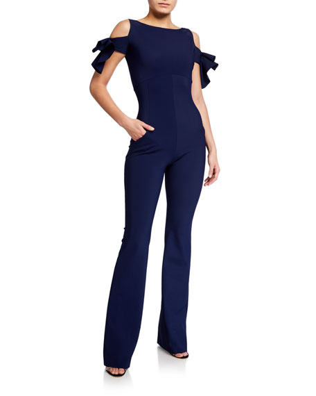 Chiara Boni La Petite Robe Cold-Shoulder Jumpsuit