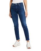 CQY BFF High-Rise Straight-Leg Jeans
