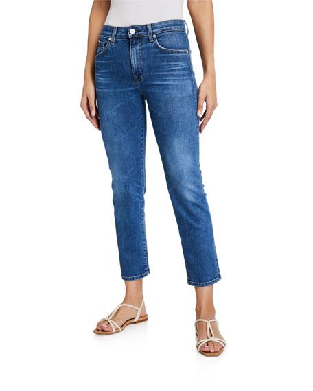 CQY Friend High-Rise Straight-Leg Jeans