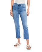 CQY Wes High-Rise Crop Boot-Cut Jeans