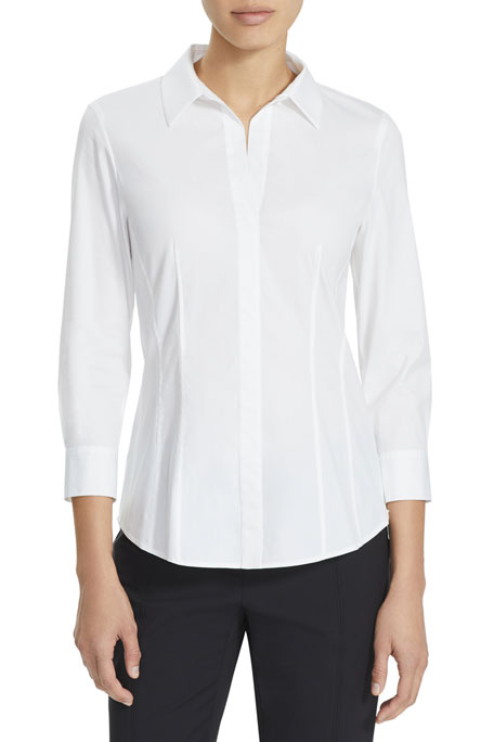 Lafayette 148 New York Katherine Blouse w/ Side Zip