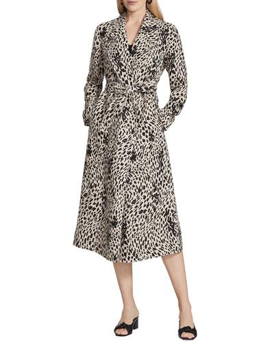 Zelida Printed Linen Coat