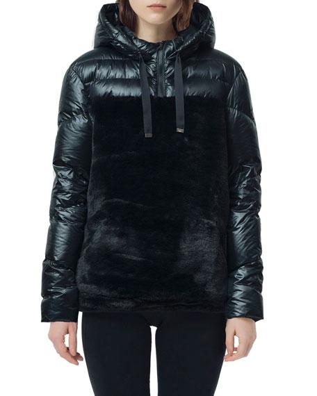 SNOWMAN New York Laze Faux Fur Puffer Coat