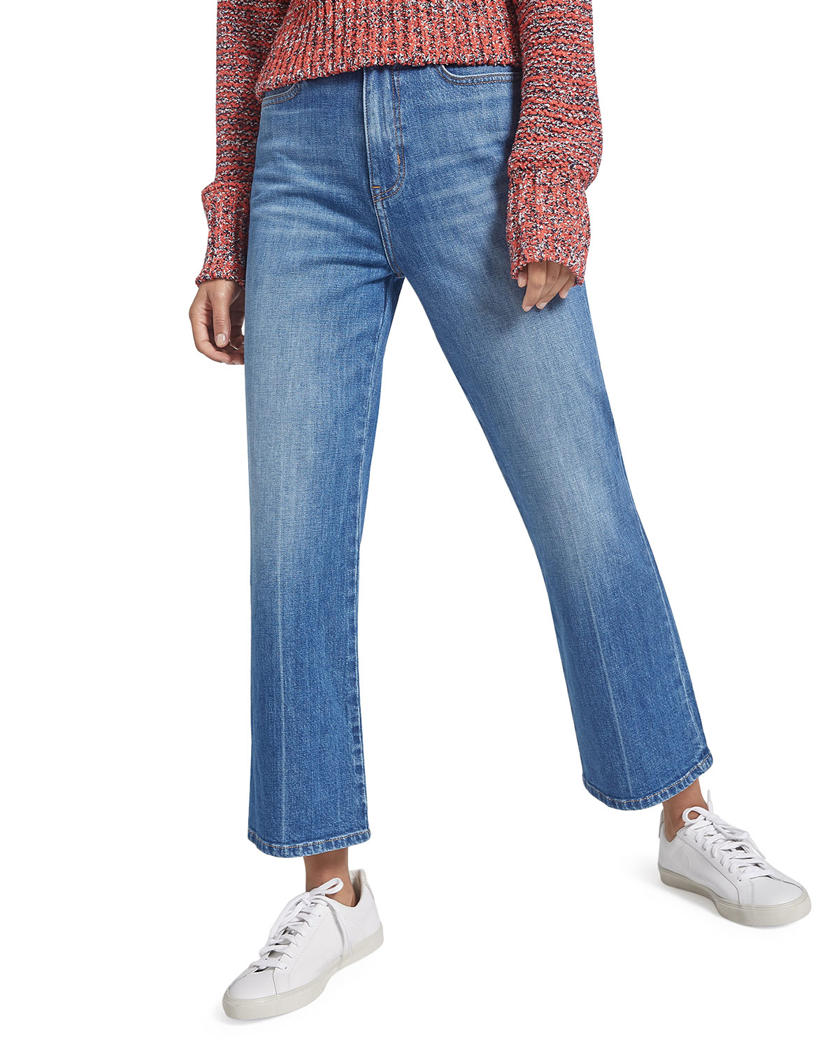 The Femme Cropped Bell Jeans