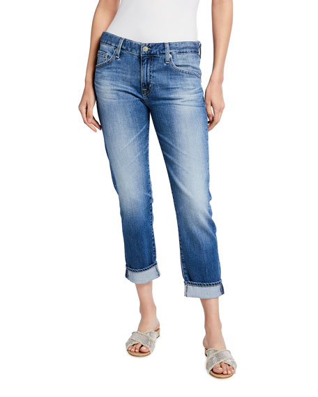 AG Adriano Goldschmied Ex Boyfriend Slim Cropped Jeans