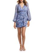 Ever New Tassa Floral Mock-Wrap Shirred Skirt Mini