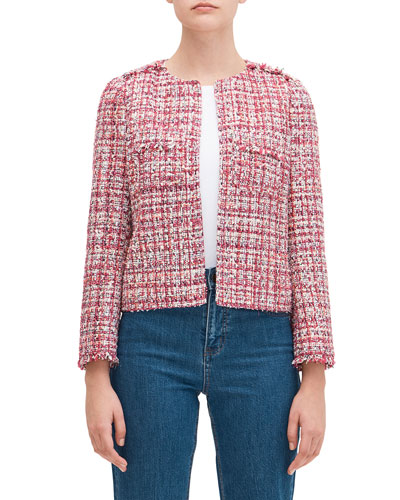 textured tweed jacket