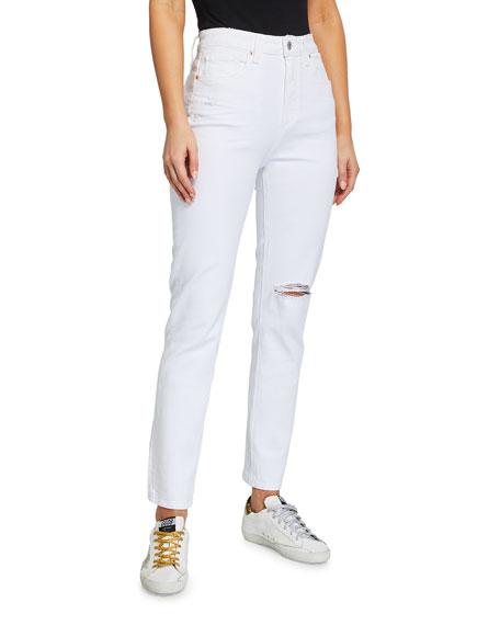 PAIGE Sarah Slim Distressed Ankle Jeans