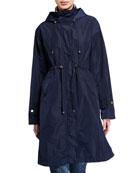 Barbour Harper Long Detachable-Hood Raincoat