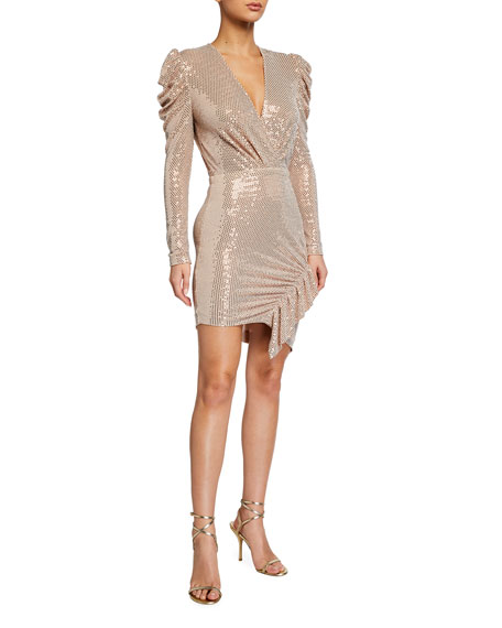Iro Lou Lou Sequined Long-Sleeve Dress