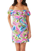 Tommy Bahama Sun Kissed Off-the-Shoulder Coverup Dress