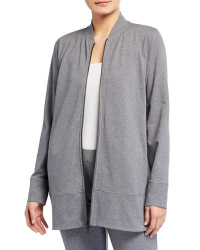 Organic Cotton Jersey Elongated Flight Jacket