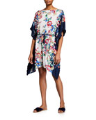 Johnny Was Maya Fringed Floral-Print Coverup Sun Dress