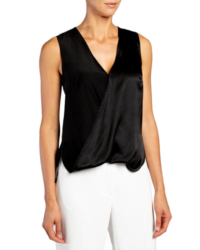 Keona Silk Charmeuse Sleeveless Top