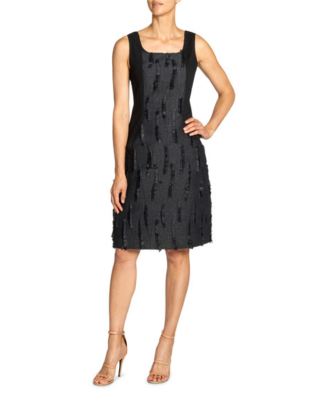 Santorelli Chiyo Contrast Side Panel Dress