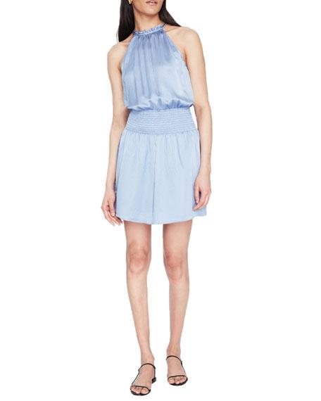 Parker Judith Halter Silk Mini Dress
