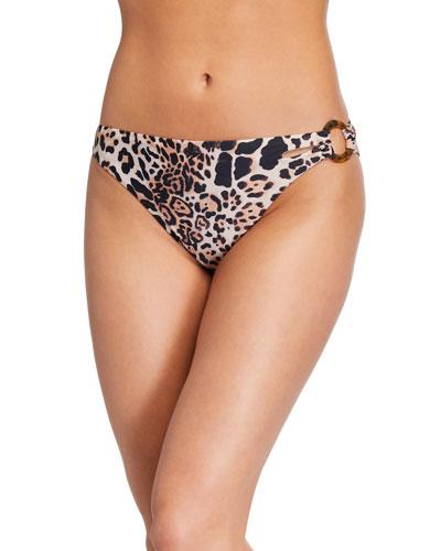 Cabo Leopard-Print Bikini Bottom