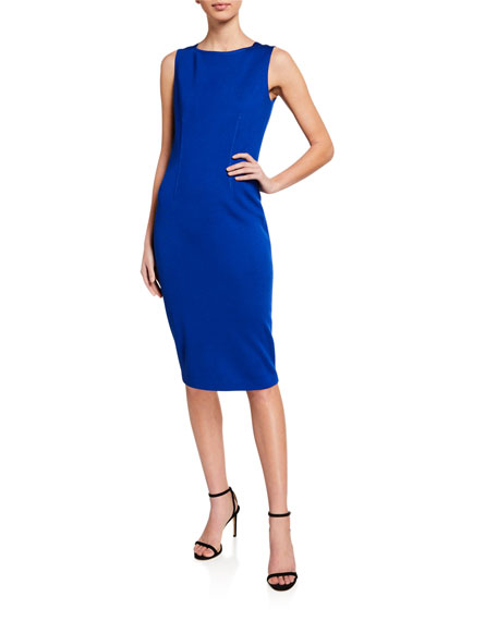 St. John Collection Milano Knit Bateau-Neck Dress