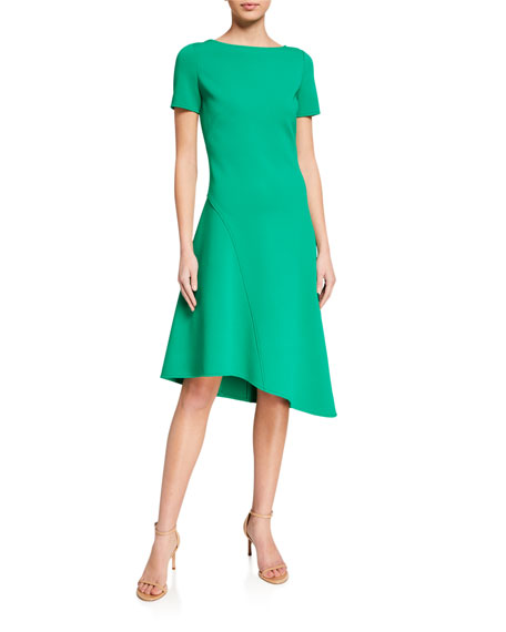 St. John Collection Luxe Knit Bateau Dress