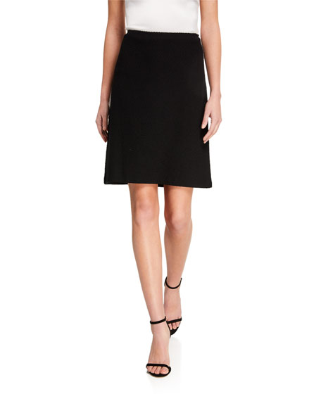 St. John Collection Micro Float Knit A-Line Skirt