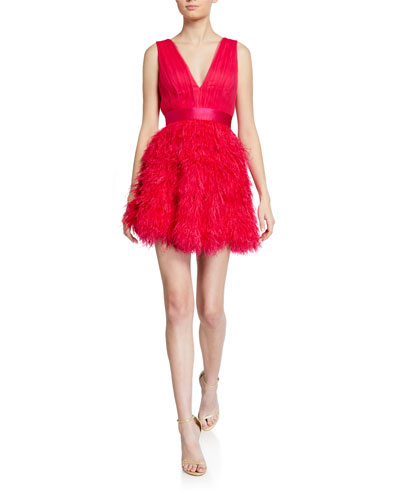Tegan Feather Party Dress