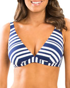 JETS by Jessika Allen Vista Striped Underwire Bikini