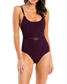 JETS by Jessika Allen Luscious Tank One-Piece Swimsuit