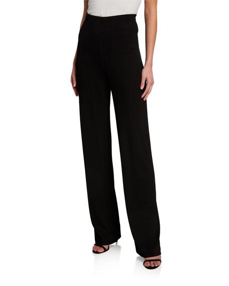 St. John Collection Plisse Jersey Flare Pants
