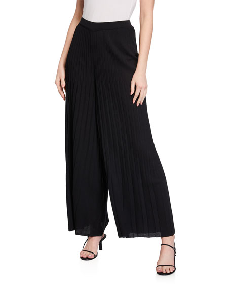 St. John Collection Architectural Pleated Knit Pants