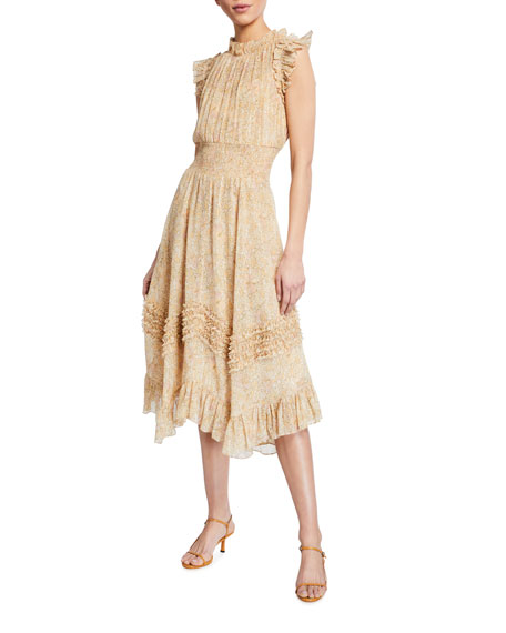 Rebecca Taylor Soleil Sleeveless Smocked Dress