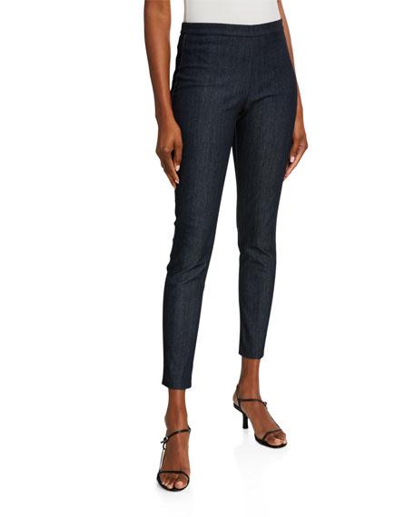 St. John Collection Lightweight Denim Pull-On Pants