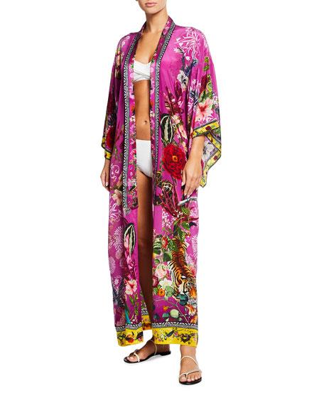 Camilla Kimono Silk Coat