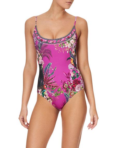Camilla Scoop Neck One-Piece Swimsuit