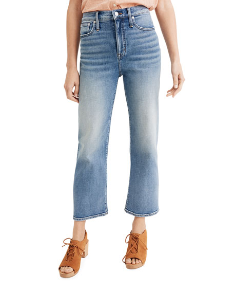 Madewell High-Rise Slim Wide Leg Jeans
