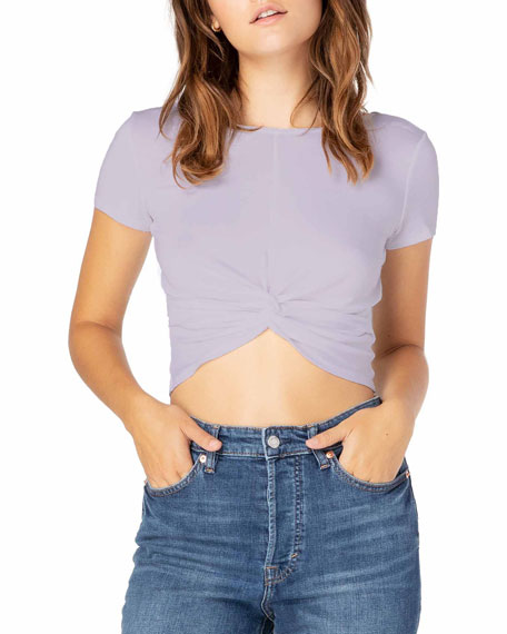 Beyond Yoga Don't Get It Twisted Reversible Cropped Tee
