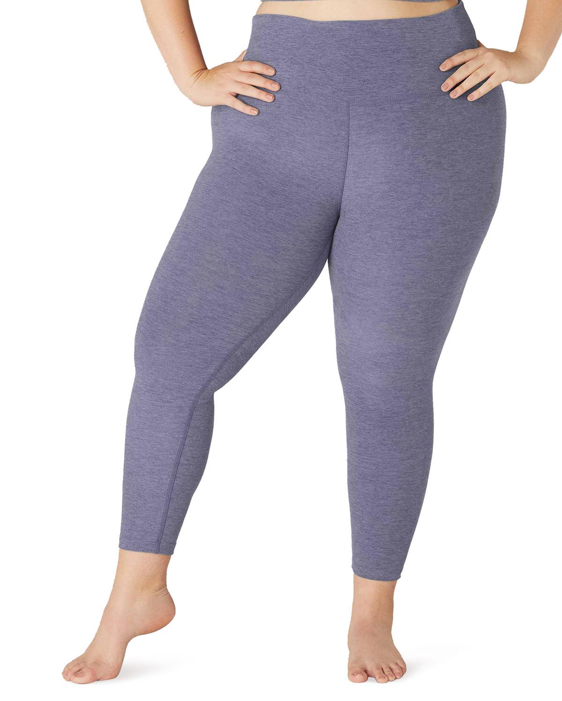 Plus Size High-Waist Space-Dye Midi Leggings