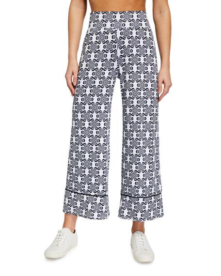 Terez Floral Print Wide-Leg Pants