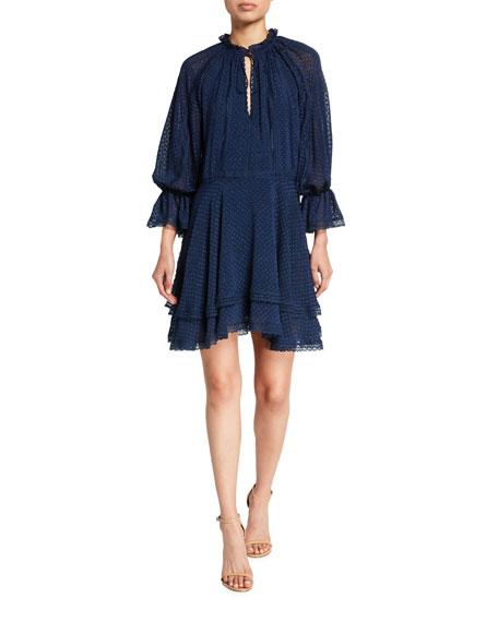 Alice + Olivia Joanne Handkerchief Short Dress